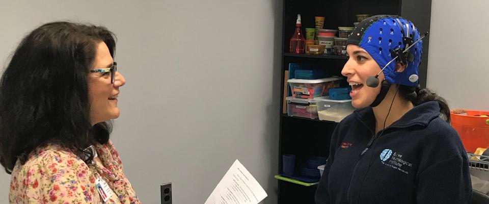 Patient during TDCS Apraxia Study