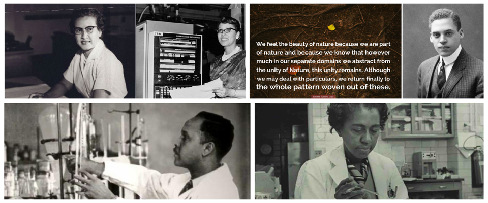 Katherine Johnson, Everrett Just Percy Julian, and Marie Daly