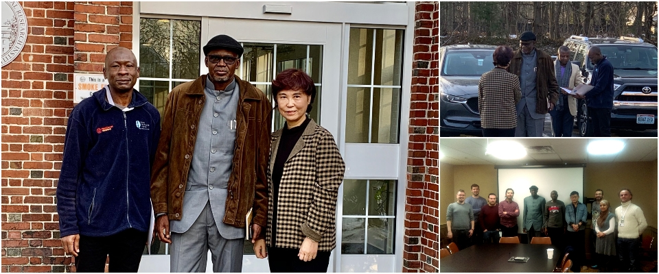 Fulbright Visiting Scholar Nasiru Suleiman, Professor Bilbis of Nigeria, Dr. Sunghee Cho at Burke Neurological Institute
