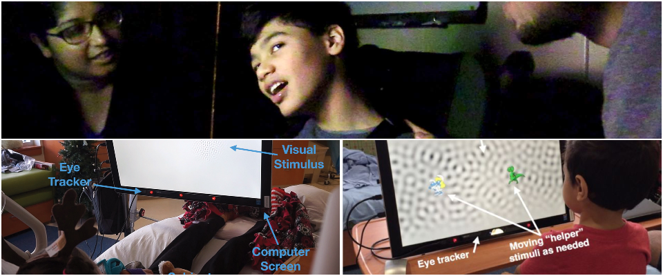 Photos of eye tracking system