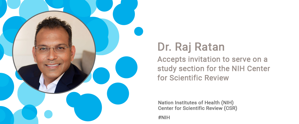 Dr. Raj RatanAccepts invitation to serve on a study section for the NIH Center for Scientific Review
