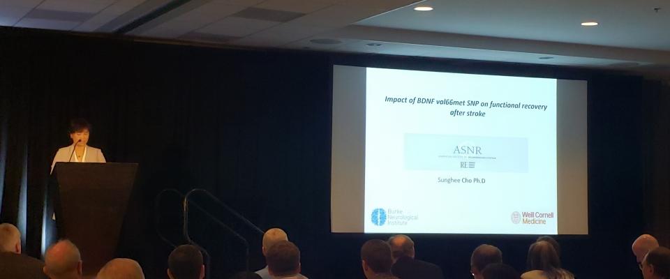 Sunghee Cho, Ph.D. at American Society of Neurorehabilitation Annual Meeting 2018, San Diego, CA