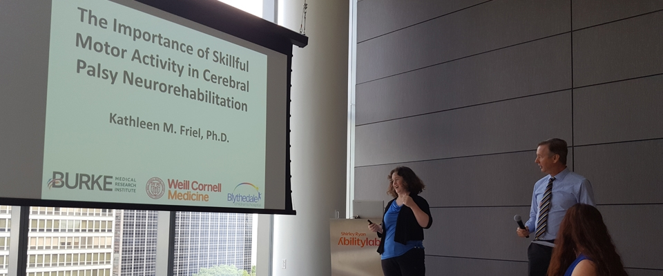 Dr. Friel, Ph.D. presented on The Importance of Skillful Motor Activity in Cerebral Palsy Neurorehabilitation at AbilityLab in Chicago