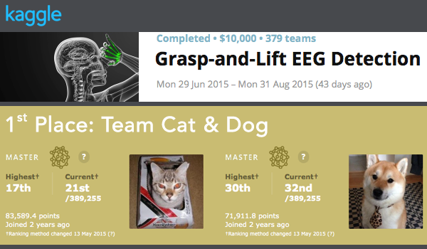 Team Cat & Dog Awarded First Place