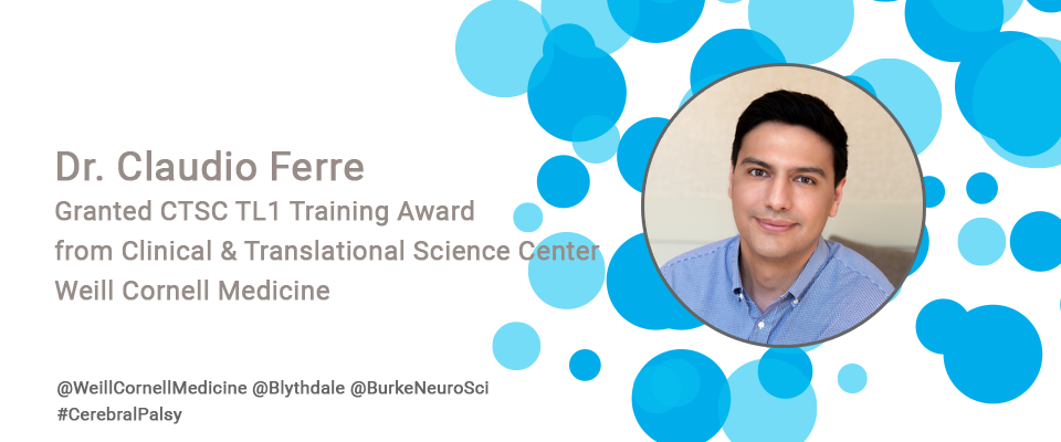 Dr. Claudio Ferre Granted CTSC TL1 Training Award from Clinical and Translational Science Center Weill Cornell Medicine