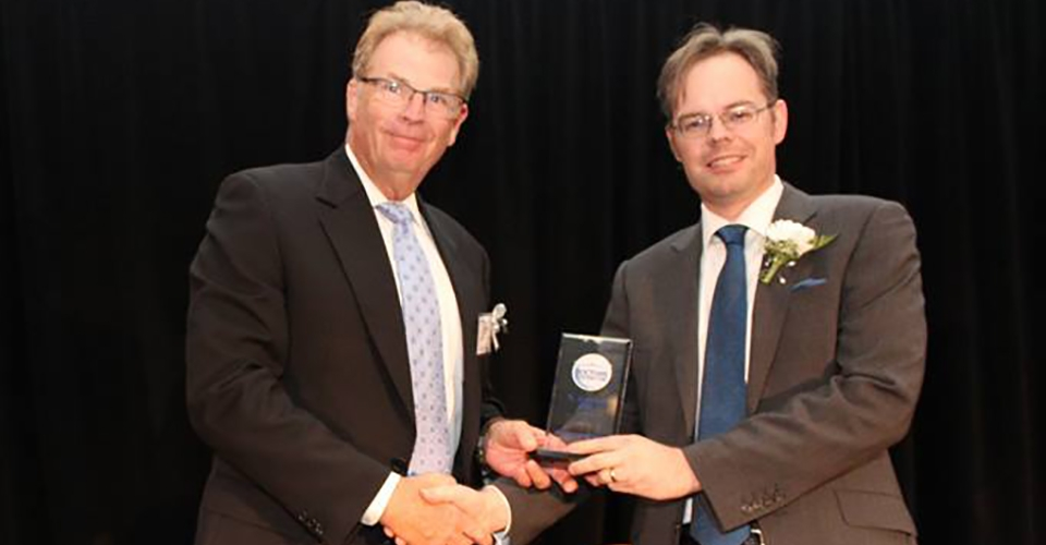Westfair Communications honored Burke Neurological Institute's Dr. N. Jeremy Hill.