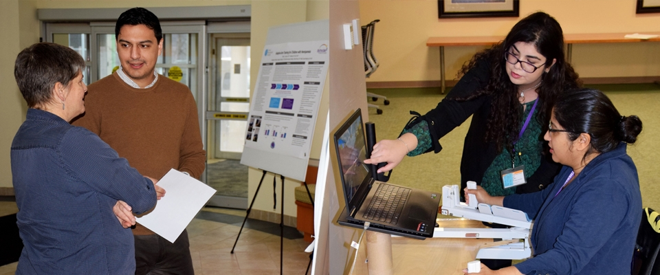Hands-on demonstrations at 2nd Annual Poster Day