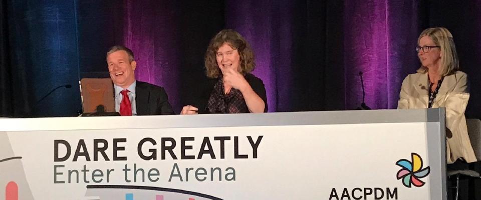 Dr. Kathleen Friel receives the Corbett Ryan Pathways Pioneer Award
