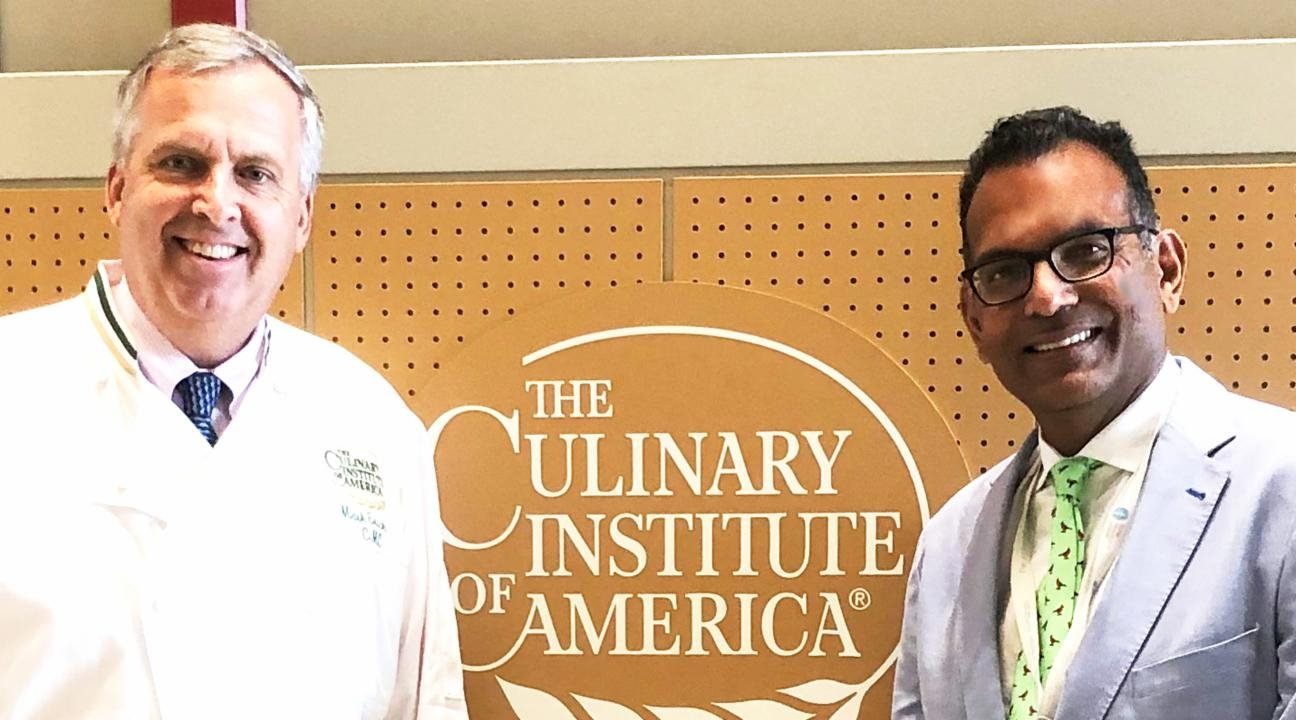 Chef Erickson and Dr. Ratan at the CIA campus