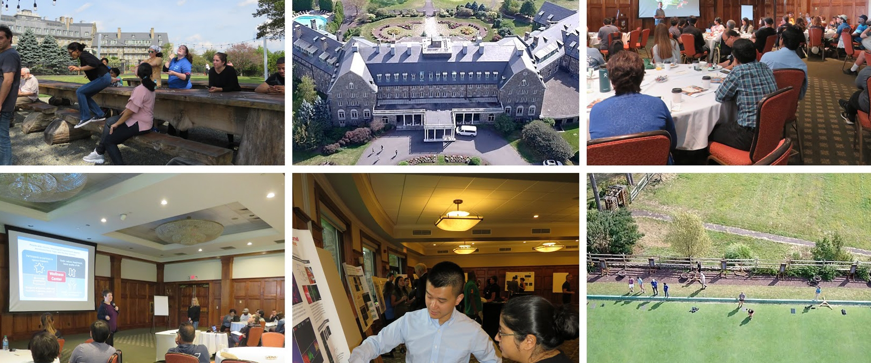 Collage of photos from Annual Retreat 2019