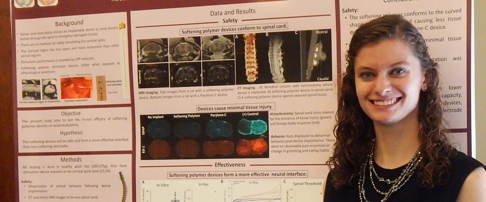 Sydney Sherman won first place for the 2016 Summer Science Scholars Program Poster Session