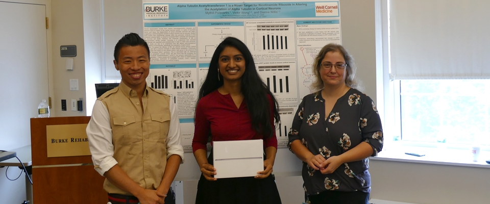 Mythili Pulavarthi won first place at the 2017 Summer Science Research Program Poster Session